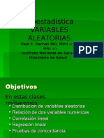 Variables Aleatorias Dr Pachas