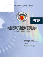 APORTACIÓN AL MANTENIMIENTO PREDICTIVO DE MOTORES DE INDUCCIÓN MEDIANTE MODERNAS TÉCNICAS DE ANÁLISIS DE LA SEÑAL