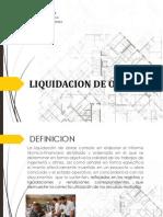 Liquidacion de Obra