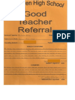 good teacher referral