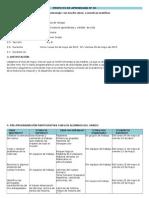PROYECTO DE APRENDIZAJE - MAYO 2015 - 1° GRADO (con las rutas 2015)