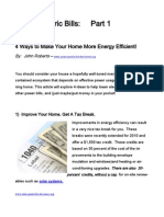 Lower Electric Bills - 4 Ways to Make Your Home More Energy Efficient