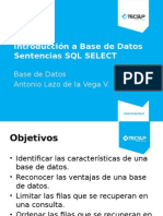 Introducción a Base de Datos - SELECT
