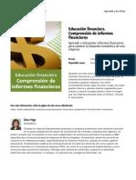 Educacion Financiera Comprension de Informes Financieros
