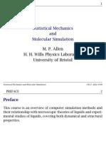 Statistical mechanics and molecular simulation