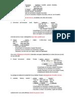 Oraciones de participio concertado analizadas y traducidas