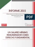 Presentación Informe 2015 del Observatorio de Salarios