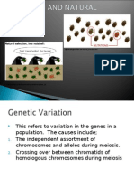 Variation and Natural Selection