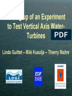 Setting Up of an Experiment to Test Vertical Axis Water-Turbines