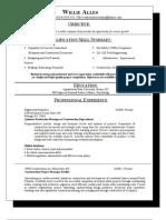 Willie Allens New Resume[1]