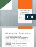 value-added evaluation