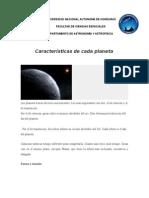 Caracteristicas de los planetas terrestres