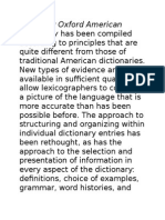 Dictionary Description in an introductory-like form