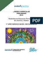 Diseño Curricular Secundaria Primer Ciclo Básico CEBJA1