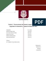 P1 Reconocimiento Del Material y Equipo