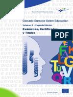 Glosario Europeo de Educación