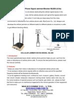 GSM Cellular Phone Signal Jammer/Blocker MJ200 (0.5w)