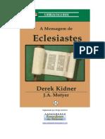 A Mensagem de Eclesiastes Derek Kidner