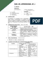 Programación de Unidades - 1ero - 2013