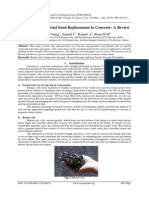 Bottom Ash as Partial Sand Replacement in Concrete- A Review