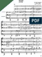Partituras - Shostakovich (Quarteto Trompete, Trompa, Trombone E Piano)