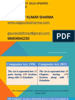 Companies Act 2013 Updates and Way Forward