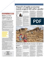 Nepal's Fragile Economy Needs Urgent Lift After Quake - Gulf Times 30 Apr 2015