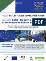 Master 2 Politiques Européennes - Spécialisation SESI