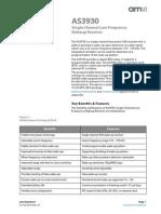 AS3930 Wakeup Reciever Datasheet