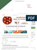 La Suplementación Deportiva_ Creatina (IV)