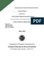 M.B.a. 4th Sem Project Report