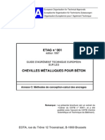 CSTB - Methode de Calcul Chevilles ETAG