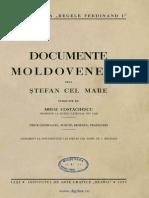Mihai Costachescu- Documente Moldovenesti de La Stefan Cel Mare