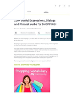 100+ Useful Expressions, Dialogs and Phrasal Verbs for SHOPPING!