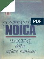 Constantin Noica.-Pagini despre sufletul romanesc