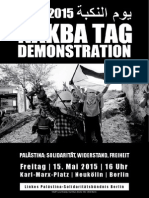 Berlin 15. Mai 2015 Naqba Demonstration
