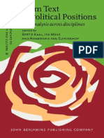 (Discourse Approaches to Politics, Society and Culture 55) Bertie Kaal (ed.), Isa Maks (ed.), Annemarie van Elfrinkhof (ed.)-From Text to Political Positions_ Text Analysis across Disciplines-John Ben (1).pdf