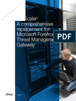 Netscaler a Comprehensive Replacement for Microsoft Forefront Threat Management Gateway