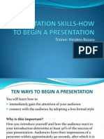 4. Presentation Skills-how to Begin a Presentation