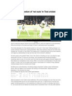 ESPNCricinfo - Calculating Batting Averages in Cricket