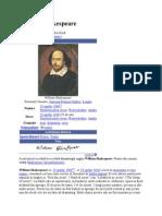 William Shakespeare Biografie