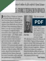 Premio a Nolte. Storici Tedeschi in Rivolta - Corsera - 16 Giugno 2000