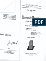 Jacomo Stávale - Elementos de Matemática - Primeiro Volume - 37ª ed. 1953.PDF