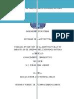 Conocimientos Anteriores Sistemas de Manufactura