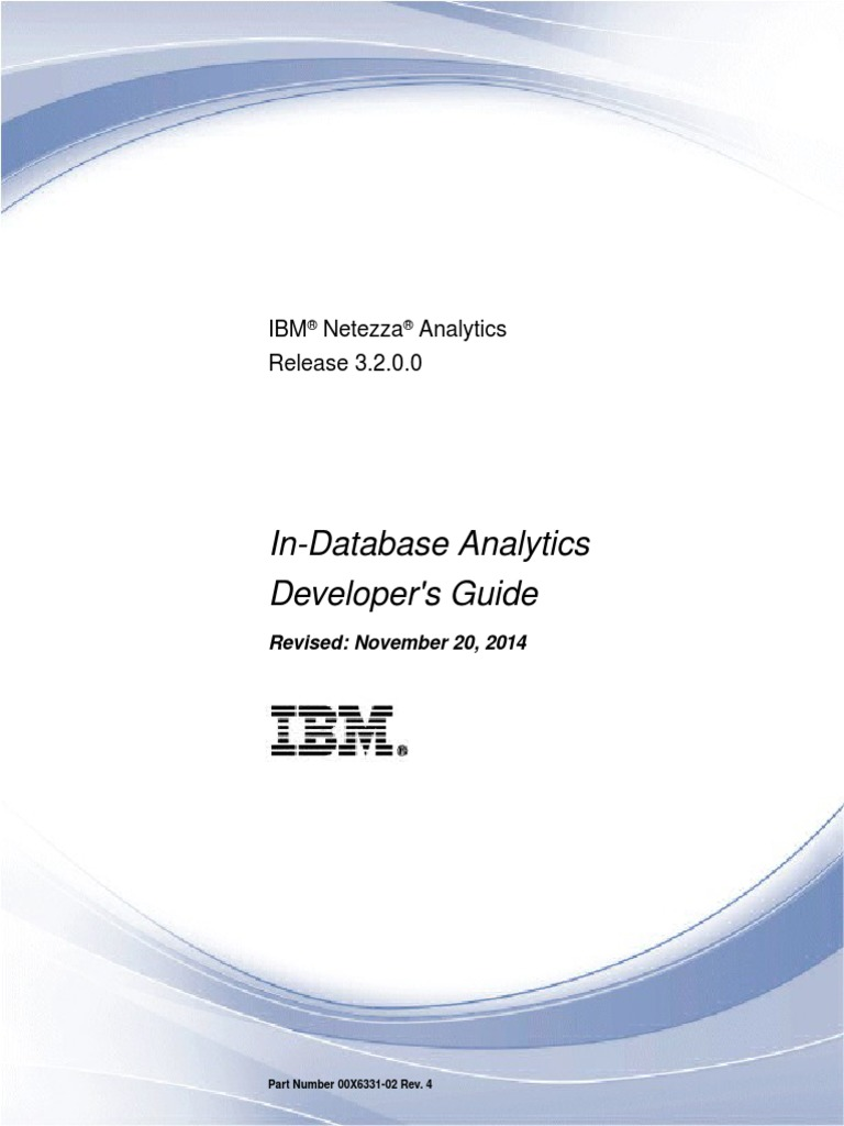 IBM Netezza in-Database Analytics Developers Guide-3.2.0.0 | Time Series |  Probability Distribution
