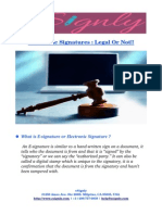 Electronic Signatures _ Legal or Not!!