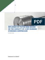 Hydrogen Compressor Dry Running Piston Ring