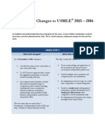 Changes to USMLE Handout