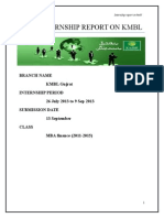 KMBL Gujrat Internship Report