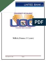 Internship Report on UBL